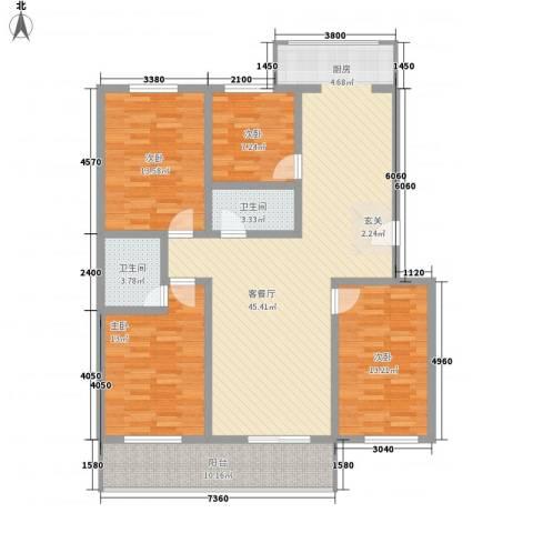 丰硕苑4室1厅2卫0厨158.00㎡户型图