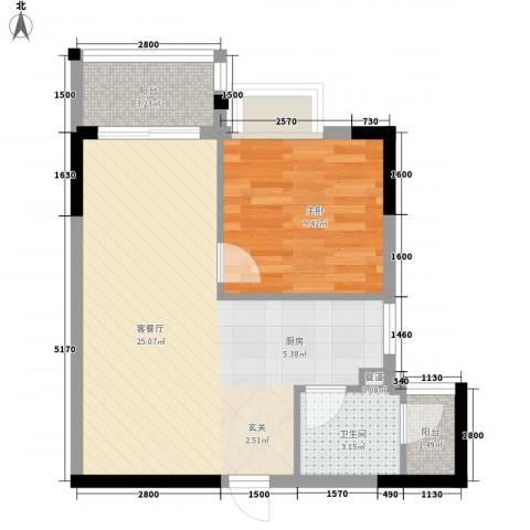 景致尚寓1室1厅1卫0厨60.00㎡户型图
