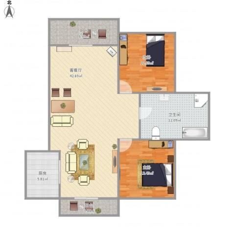 水清二村二期(水清嘉苑)-221-1022室1厅1卫1厨128.00㎡户型图
