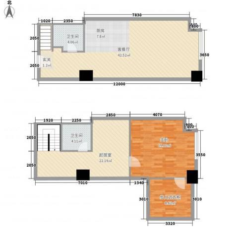 方恒・偶寓空间1室1厅2卫0厨100.63㎡户型图