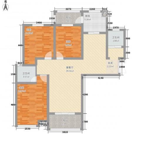 安阳义乌国际商贸城/义乌城3室1厅2卫1厨140.00㎡户型图