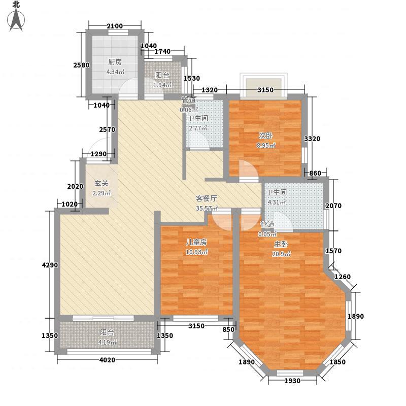 罗马假日135.00㎡Ostuni-奥斯图尼户型3室2厅2卫1厨