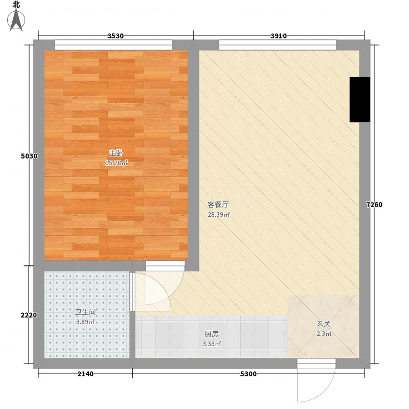 现代国际新城2#公寓楼02户型