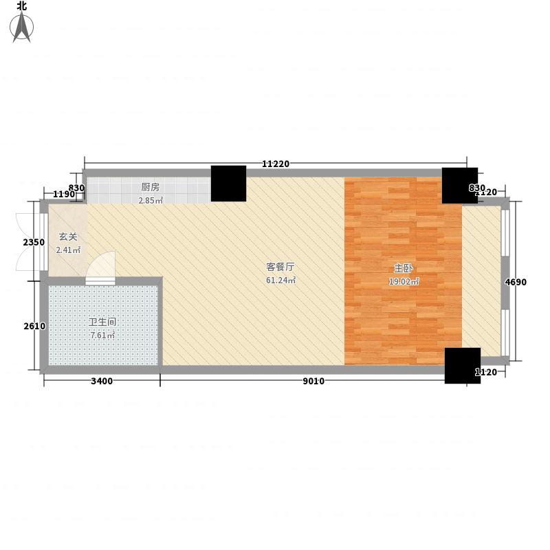 现代国际新城2#公寓楼04户型