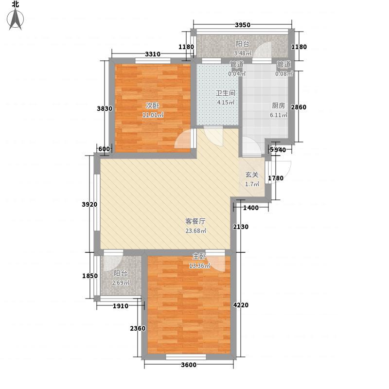 罗曼松鼠湾83.50㎡I户型2室1厅1卫