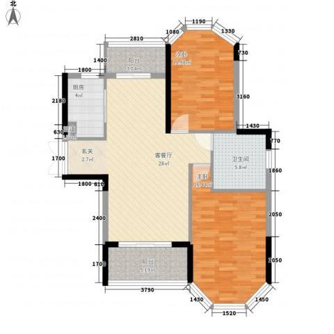 光耀荷兰堡2室1厅1卫1厨74.53㎡户型图