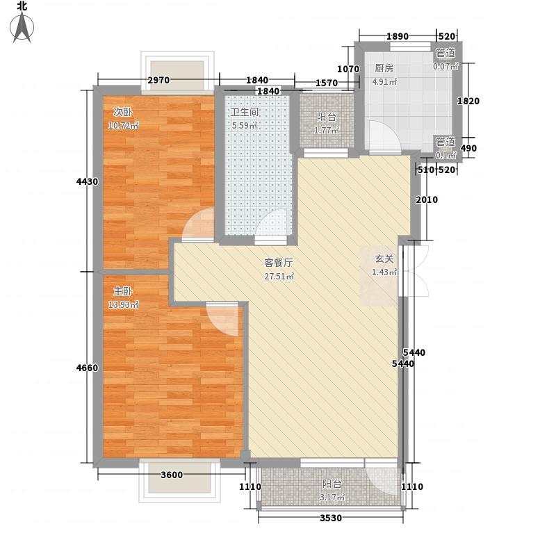 东方波尔多3.00㎡1、7、8、12#楼罗曼丽舍A户型2室2厅1卫1厨