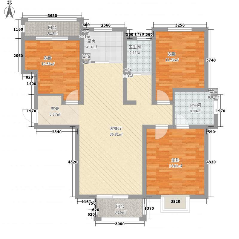 非常国际133.00㎡户型3室