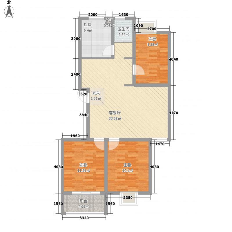 江山帝景115.00㎡小高层住宅N户型3室2厅1卫1厨