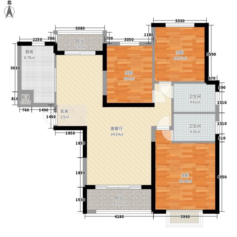 济南恒大奥东新都137.00㎡6号楼-1单元-1户型3室2厅2卫1厨
