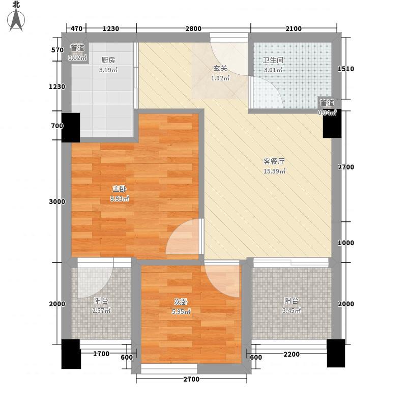 重汽彩世界4B7B8B户型2室2厅