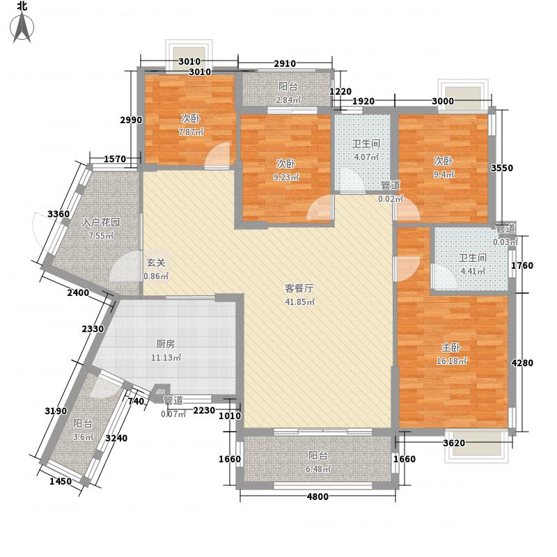 华新路独栋别墅4居户型4室3厅3卫1厨