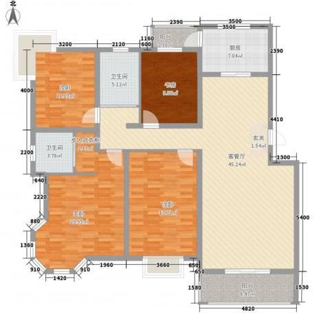腾骐骏安4室1厅2卫1厨165.00㎡户型图