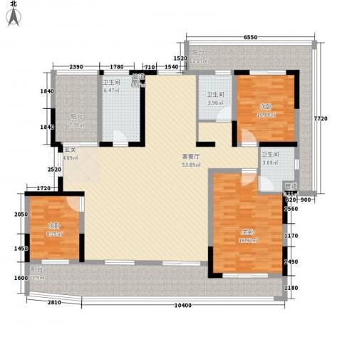 运河西路散盘3室1厅3卫0厨144.70㎡户型图