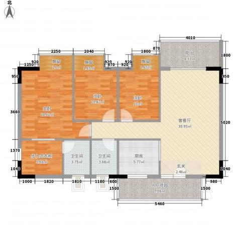 建安广场(塘厦)3室1厅2卫1厨141.00㎡户型图