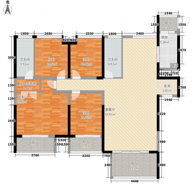 海悦长滩德丰户型4室
