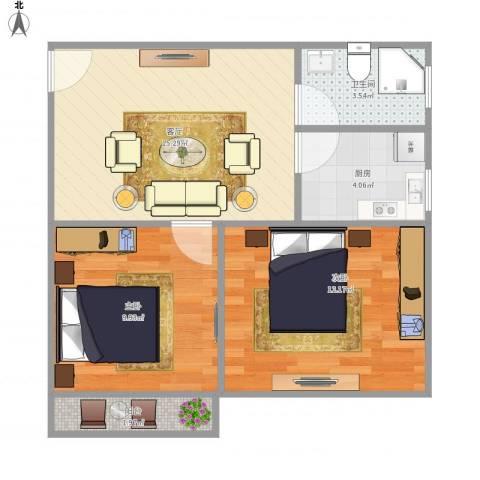 莘松三村-211-512室1厅1卫1厨64.00㎡户型图