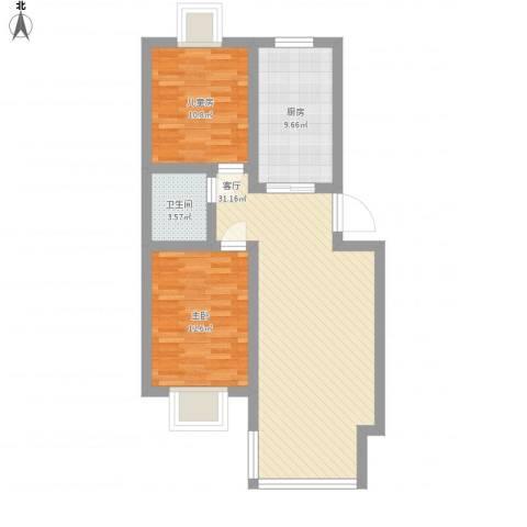 新华联家园2室1厅1卫1厨100.00㎡户型图