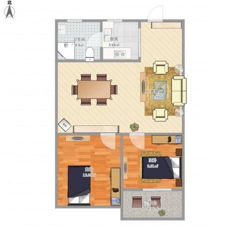 莘松三村-211-662室1厅1卫1厨82.00㎡户型图
