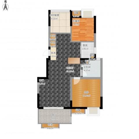 中冶锦园1室1厅1卫1厨106.00㎡户型图