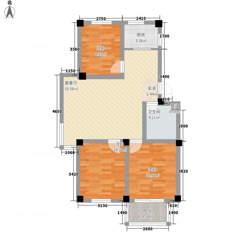 颐青园4.00㎡户型3室2厅1卫1厨