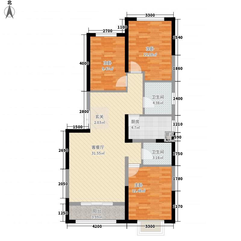 金域・华府公馆128.00㎡1#1、2、3单元A1户型3室2厅2卫1厨