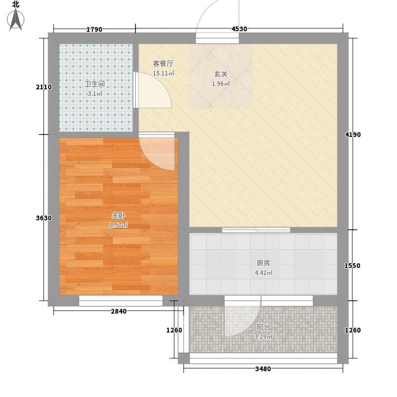 兴达河畔鑫莲54.81㎡兴达户型