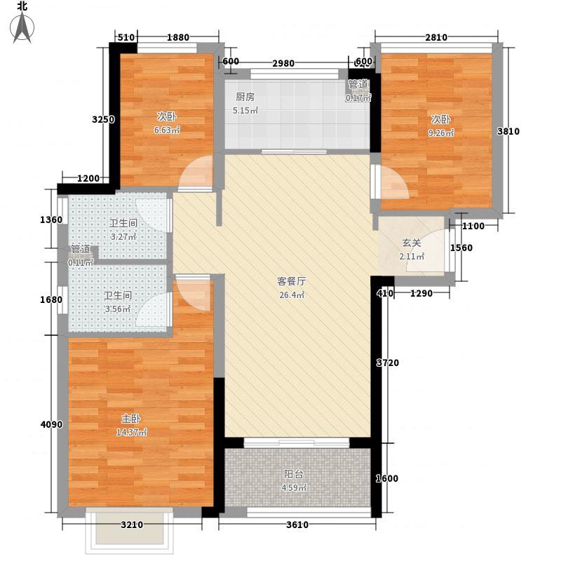 万科松湖传奇7.00㎡户型3室2厅2卫1厨