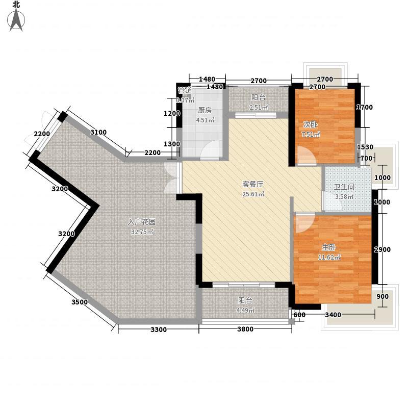 美岸栖庭87.00㎡二期户型2室2厅