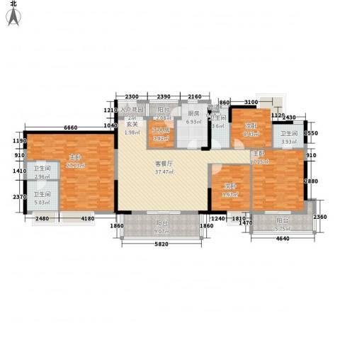 江南新苑4室1厅4卫1厨205.00㎡户型图