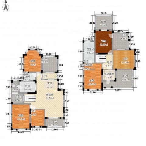 紫金英郡5室1厅2卫1厨227.00㎡户型图