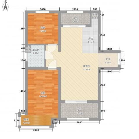 新希望乐城2室1厅1卫0厨84.00㎡户型图