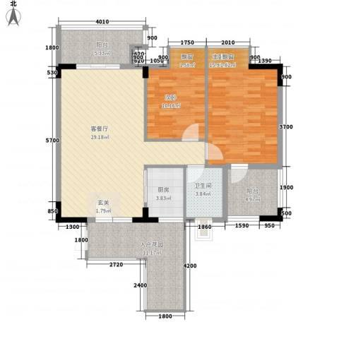 建安广场(塘厦)2室1厅1卫1厨118.00㎡户型图