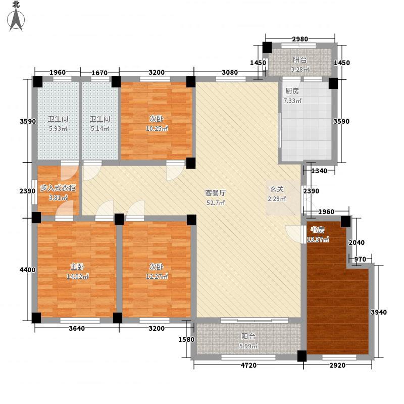 米兰小镇P户型4室2厅2卫1厨
