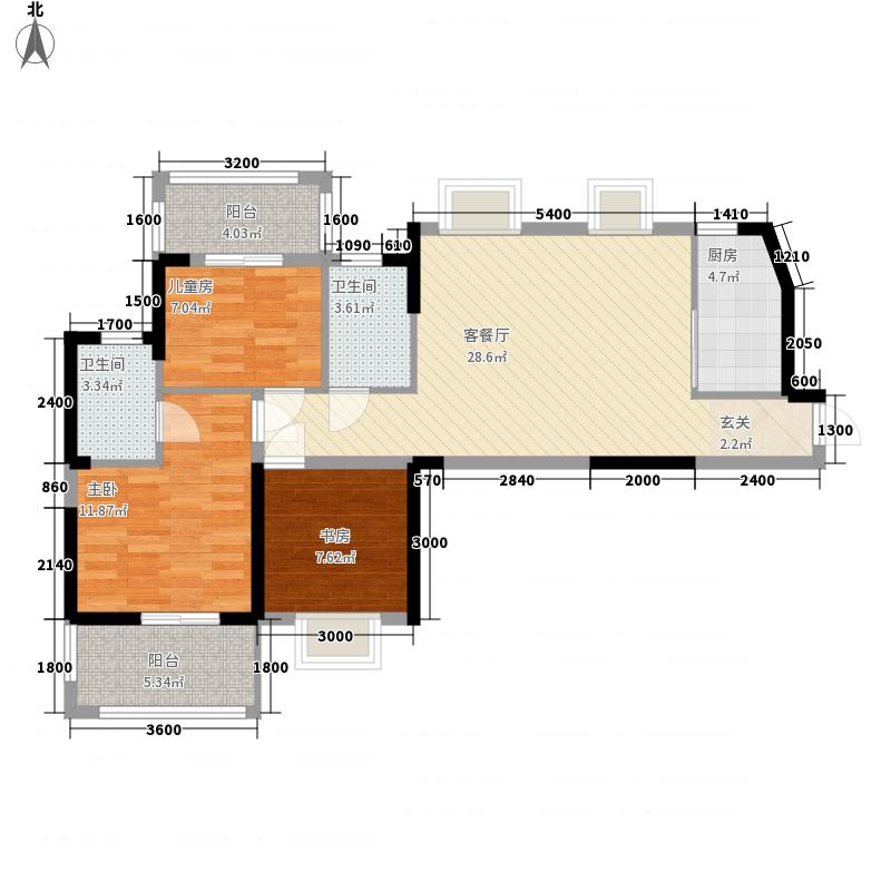 纽宾凯汉city国际社区112.00㎡6、10、12号楼D3户型3室2厅2卫1厨