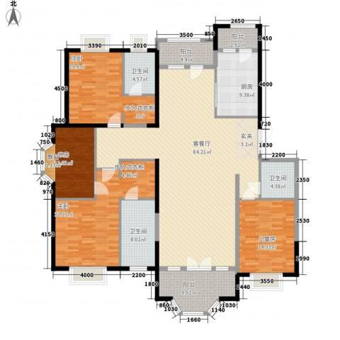 兴泰东河湾4室1厅3卫1厨239.00㎡户型图