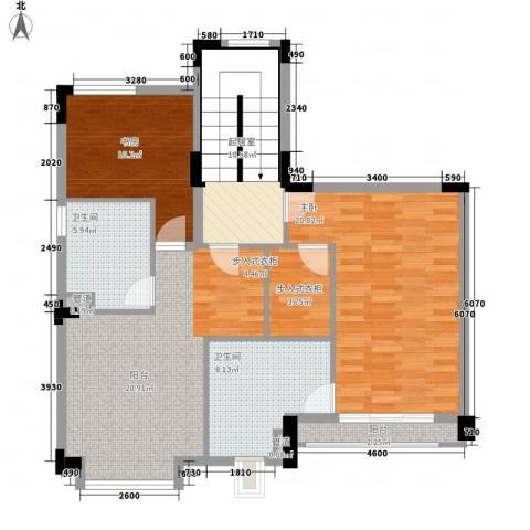 顺峰山语2室0厅2卫0厨95.00㎡户型图