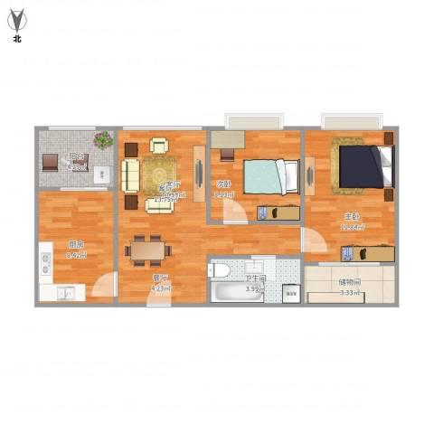 嘉多利山花园2室1厅1卫1厨79.00㎡户型图