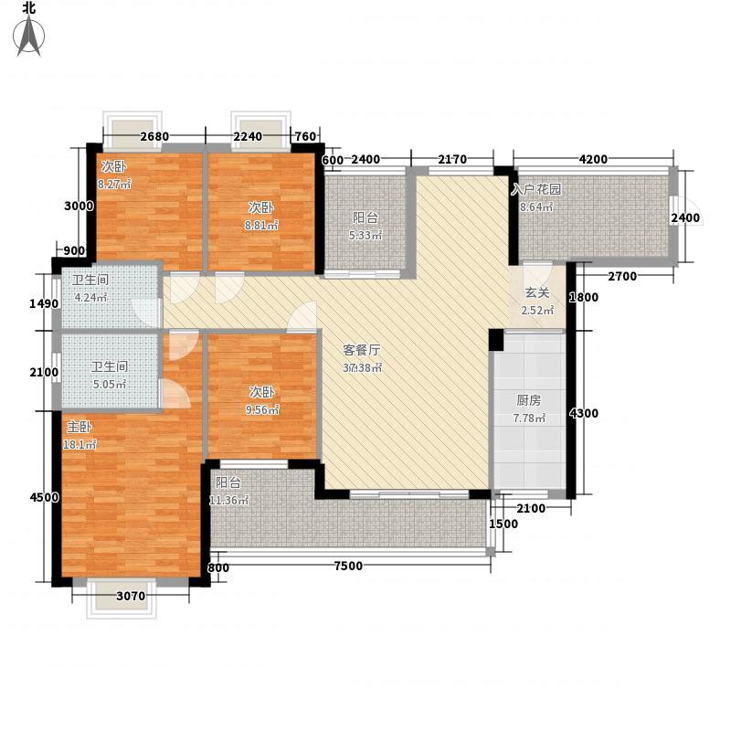 荣城・祥和名邸156.80㎡5#楼A户型4室2厅2卫1厨