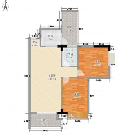 建安广场(塘厦)2室1厅1卫1厨119.00㎡户型图