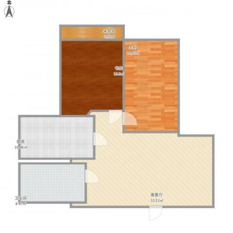 国泰・润园2室1厅1卫1厨117.00㎡户型图