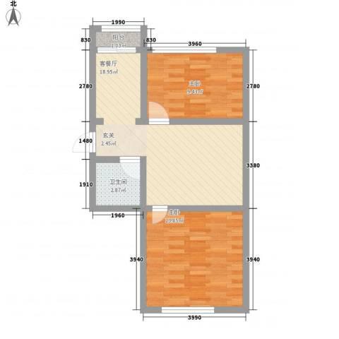 龙泰富苑2室1厅1卫0厨68.00㎡户型图