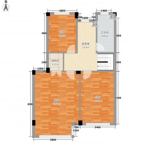圣罗伦斯3室0厅1卫0厨80.23㎡户型图