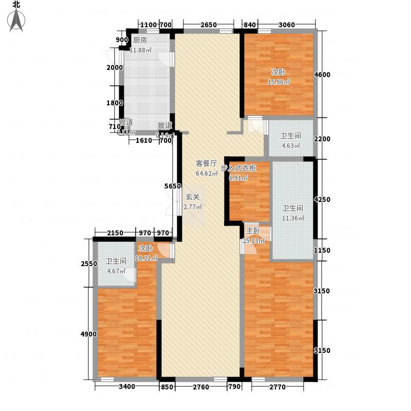 使馆壹号院236.00㎡A户型3室2厅3卫1厨
