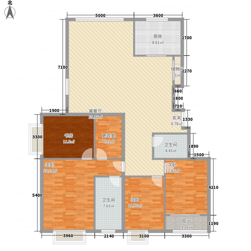 银丰花园15.00㎡E5户型3室2厅2卫1厨