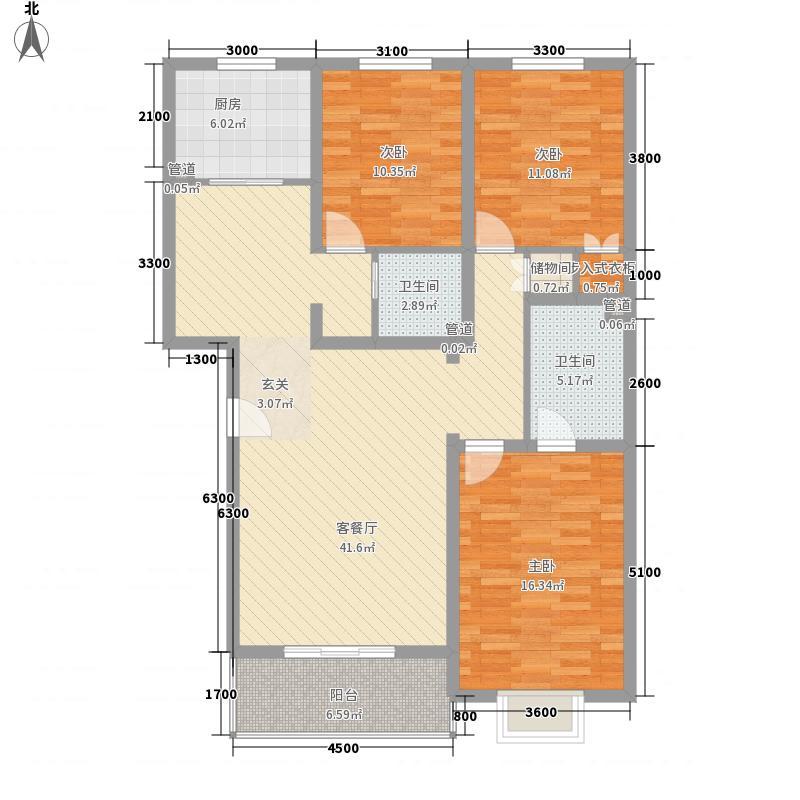 桃园水榭桃源水榭户型3室2厅2卫1厨