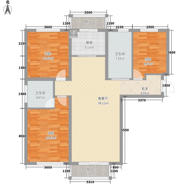 高格蓝湾138.00㎡A户型3室2厅2卫