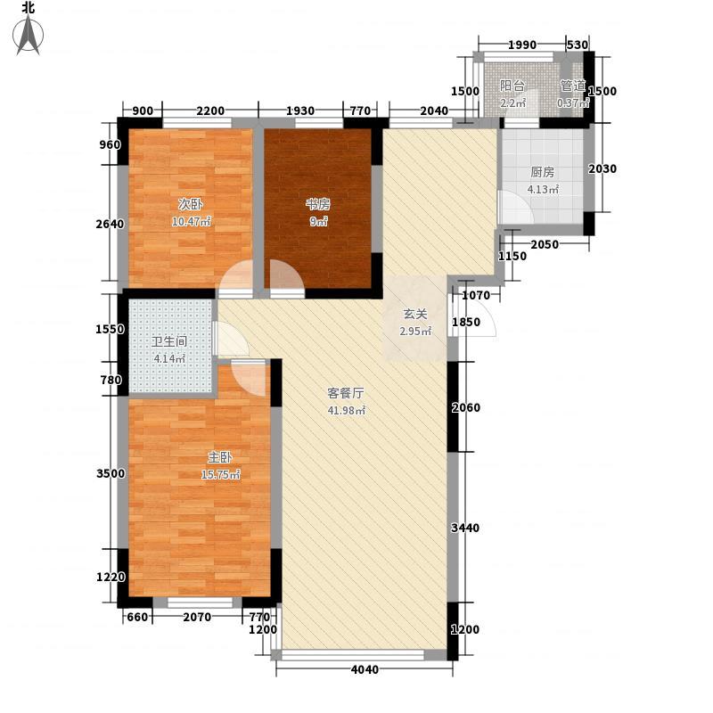 高格蓝湾122.71㎡08新户型3室2厅1卫