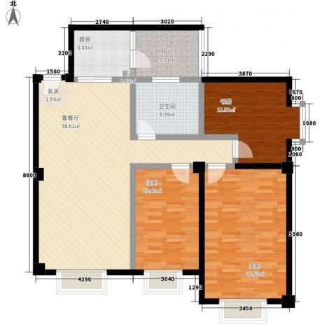 大唐龙庭(大唐智能花园三期)3室1厅1卫1厨143.00㎡户型图