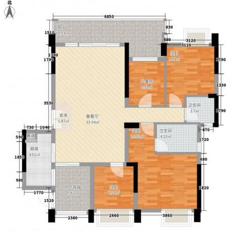 荷兰水乡花语岸4室1厅2卫1厨136.00㎡户型图